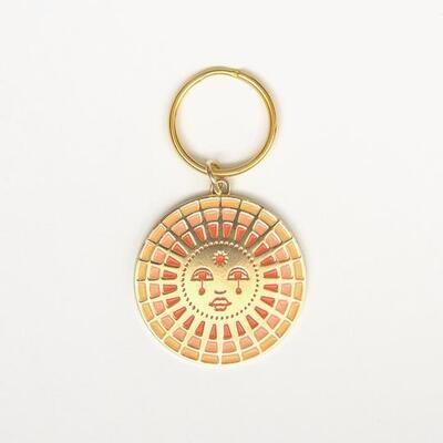 Sun Enamel Keychain - CJK3