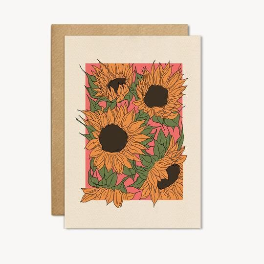 Sunflower Greeting Card - CJ15