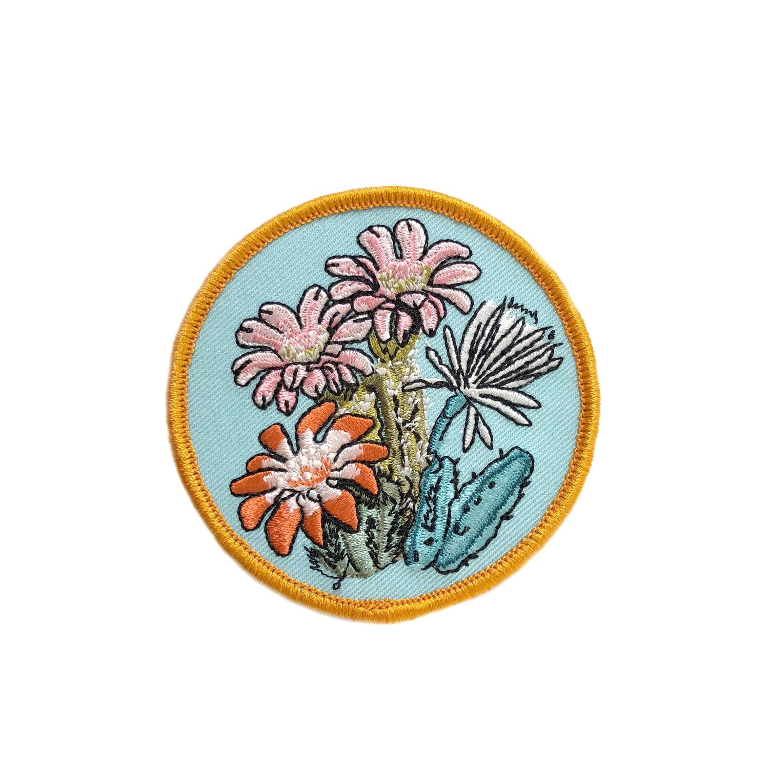 Cactus Blooms Embroidered Patch - AQPA13