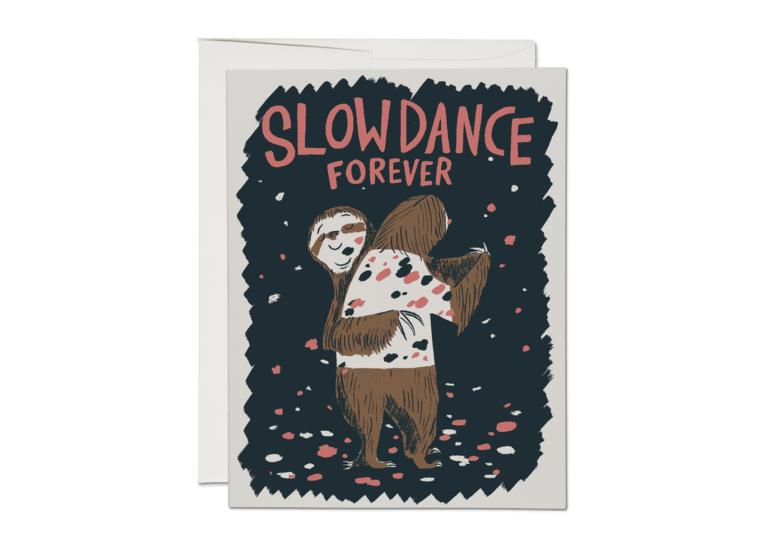 Slow Dance Sloths Greeting Card - RC85