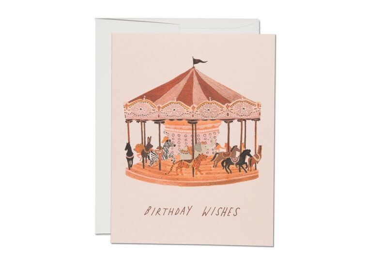 Carousel Birthday Wishes Greeting Card - RC82