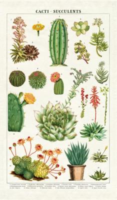 Cacti + Succulents Tea Towel