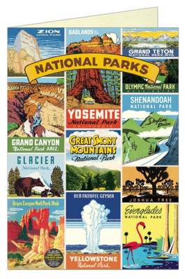 National Parks Collage Greeting Card - CV1