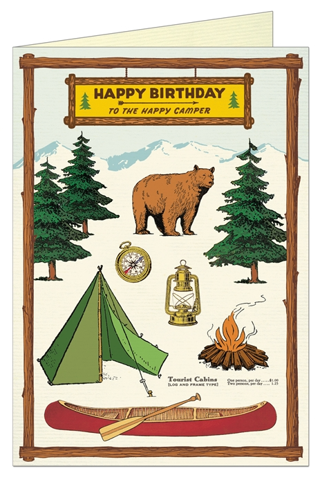 Happy Birthday Camping Greeting Card - CV2