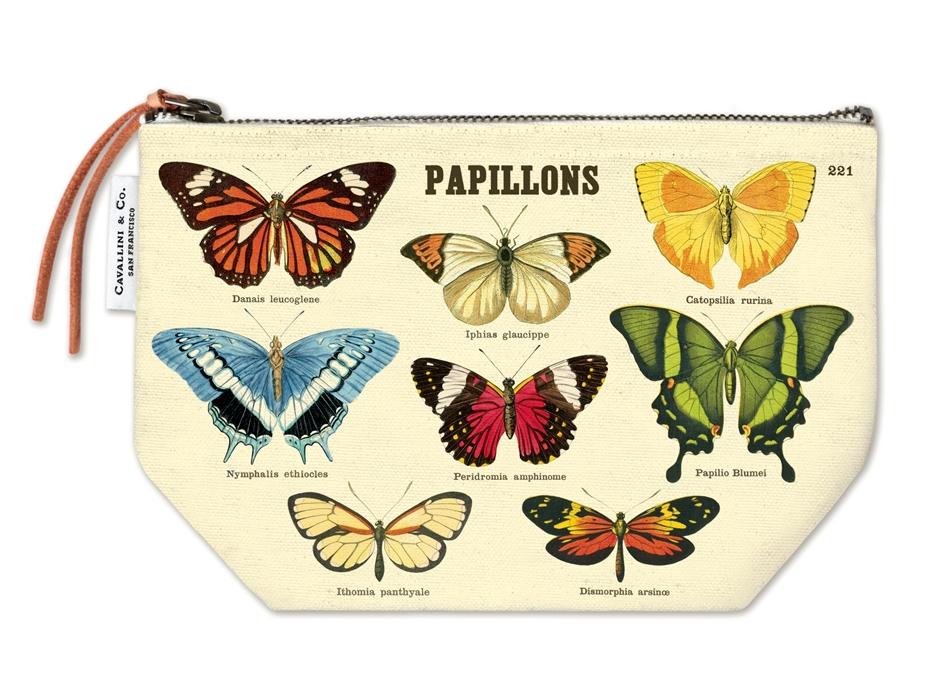 Butterflies Vintage Pouch