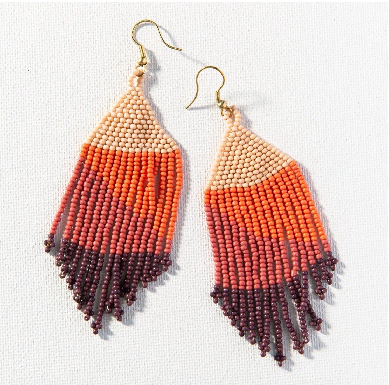 Pink Ombre Fringe Earrings - IAE6