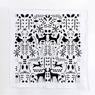 Forest - Black Tea Towel - GGT1
