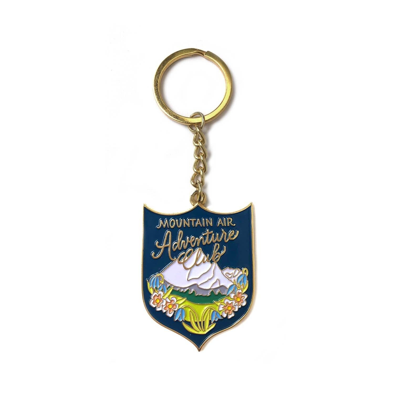 Mountain Adventure Enamel Keychain - AQK4