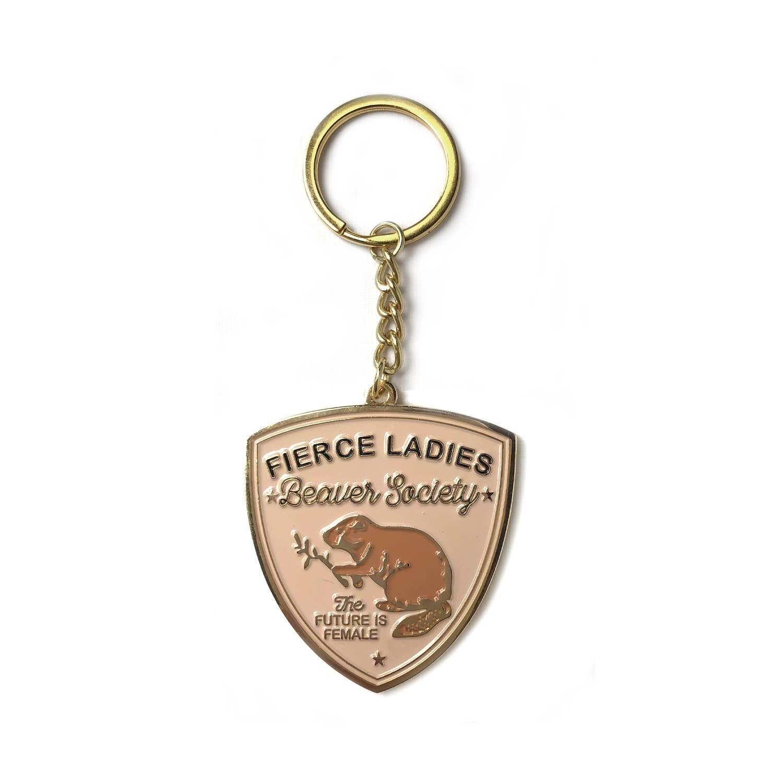Beaver Society Enamel Keychain - AQK2