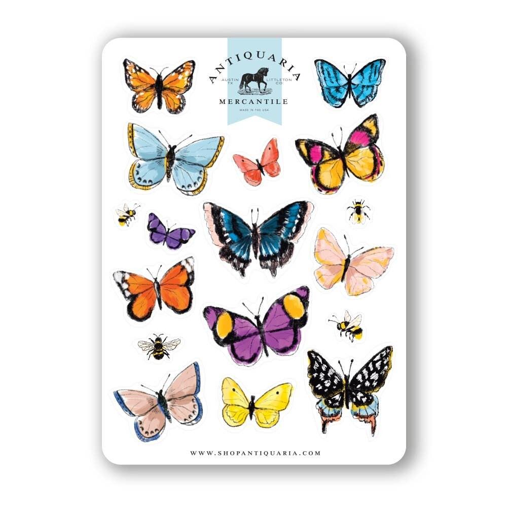 Butterflies Sticker Sheet - AQS6