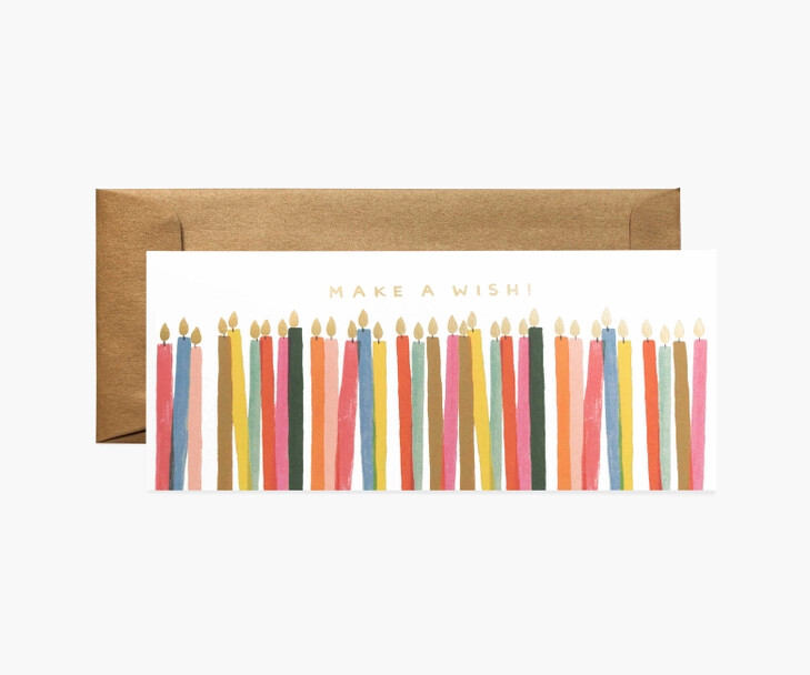 Make a Wish Candles Birthday Card - Rifle Paper Co. RPC140