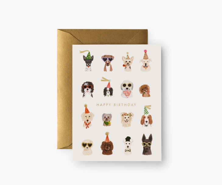Party Pups Birthday Card - Rifle Paper Co. RPC135