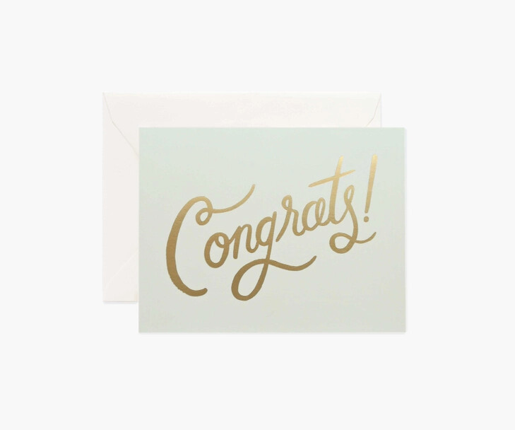 Timeless Congrats Card - Rifle Paper Co. RPC141