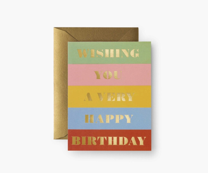 Birthday Wishes Card - Rifle Paper Co. RPC138