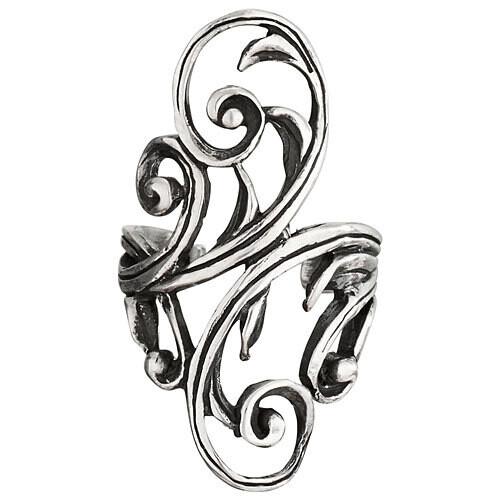 Sterling Silver Swirling Ear Cuff - H16 - 4476