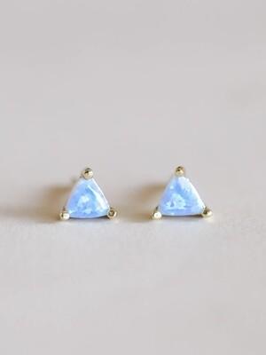 Opalescent Mini Energy Gem Posts - 18k Gold Over Silver - JK50