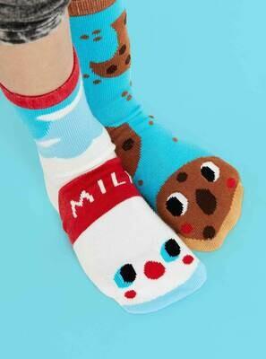 Pals Socks - Milk & Cookies   Kids Socks   Collectible Mismatched Socks
