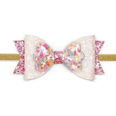 Sprinkle Bow Baby Headband