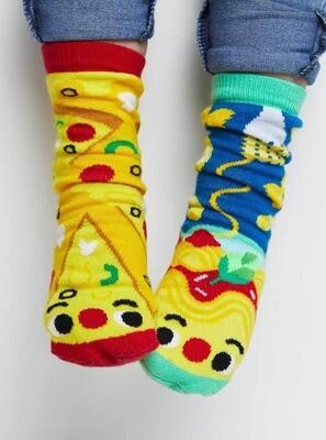 Pals Socks - Pizza & Pasta   Kids Socks   Collectible Mismatched Socks