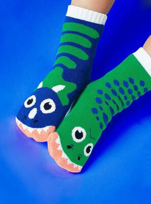 Pals Socks - T-Rex & Triceratops   Kids Socks   Mismatched Fun Socks