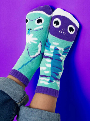 Pals Socks - Dolphin & Fish   Kids Socks   Collectible Mismatched Socks