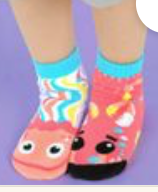 Pals Socks - Crab & Jellyfish   Kids Socks   Mismatched Crazy Fun Socks (1)