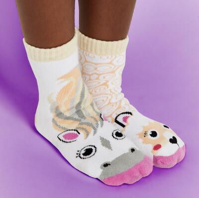 Pals Socks - Horse & Alpaca   Kids Socks   Collectible Mismatched Socks
