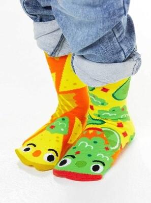 Pals Socks - Chips & Guac   Kids Socks   Collectible Mismatched Socks