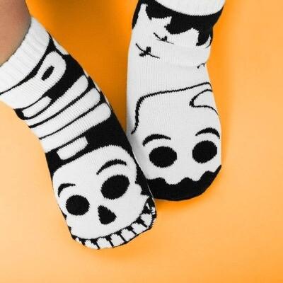 Pals Socks - Ghost & Skeleton   Kids Socks   Mismatched Crazy Fun Socks