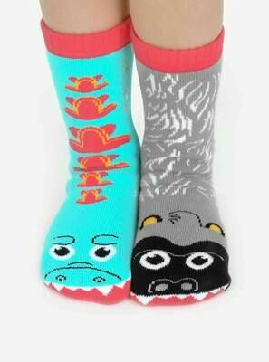 Pals Socks - Giant Gorilla & Mutant Lizard   Kids Socks  Mismatched Socks
