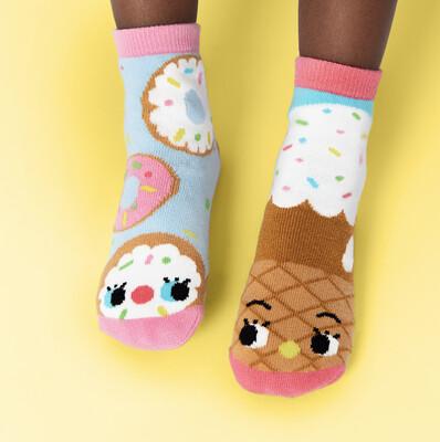 Pals Socks - Donut & Ice Cream   Kids Socks   Mismatched Fun Socks