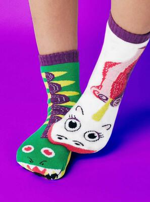 Pals Socks - Dragon & Unicorn   Kids Socks   Mismatched Crazy Fun Socks