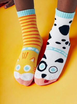 Pals Socks - Cat & Dog   Kids Socks   Collectible Mismatched Crazy Socks