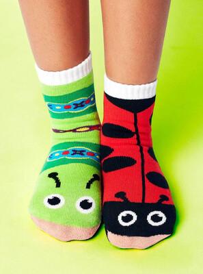 Pals Socks - Ladybug & Caterpillar   Kids Socks   Mismatched Crazy Socks