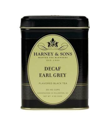 Harney Decaf Earl Grey Tea in Tin 4oz