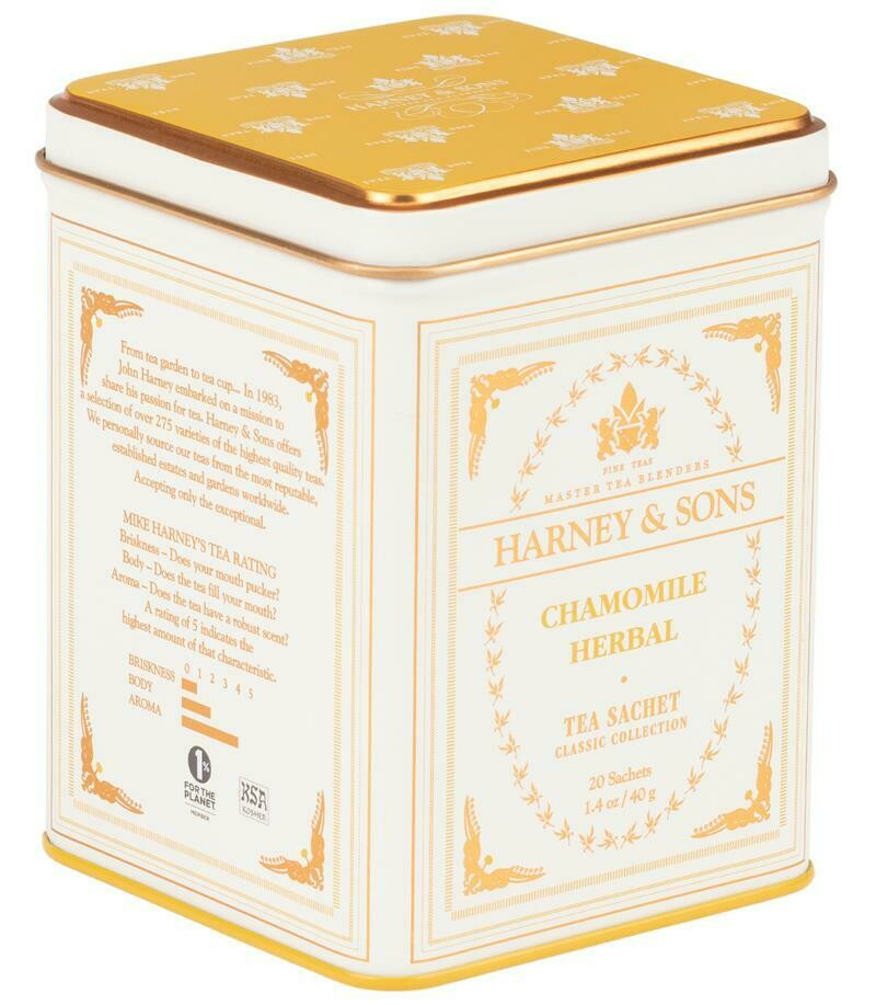 Harney 20ct CHAMOMILE TEA Sachets in Tin