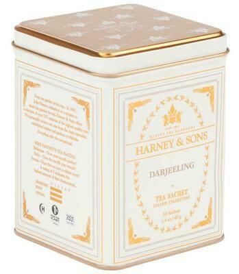 Harney 20ct DARJEELING TEA Sachets in Tin