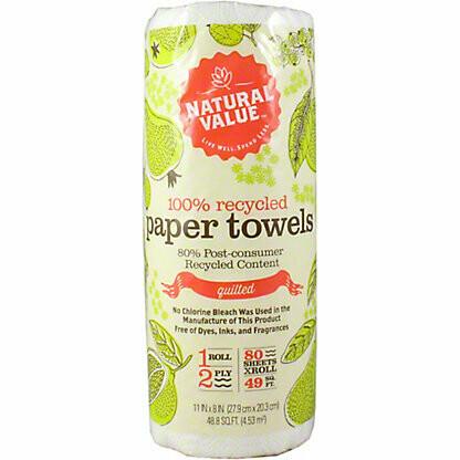 Natural Value Paper Towels - Single