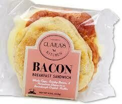 Clara's Kitchen Bacon Breakfast Sandwich