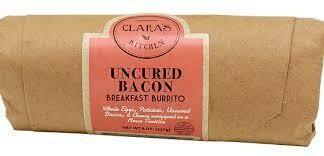 Clara's Uncured Bacon Breakfast Burrito