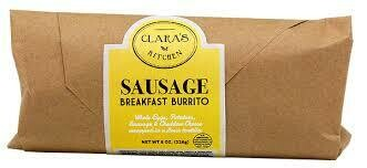 Clara's Sausage Breakfast Burrito