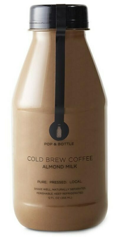 Pop & Bottle Cold Brew Almond Milk 12oz