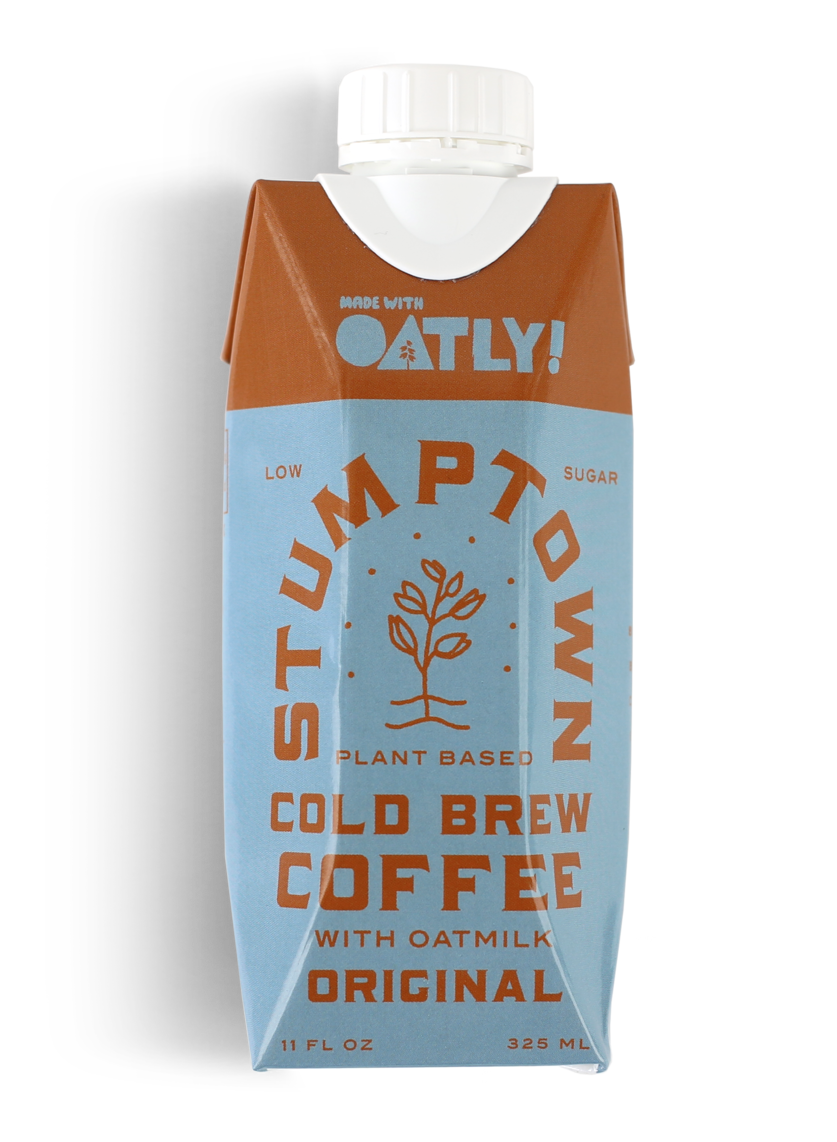 Oatly Stumptown Cold Brew Coffee with oatmilk