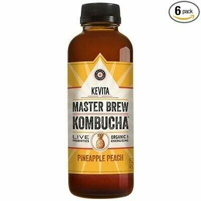 KeVita Kombucha 15.2oz Pineapple Peach