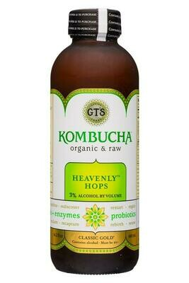 GT's Heavenly Hops 3% Alc. Hard Kombucha 16oz.