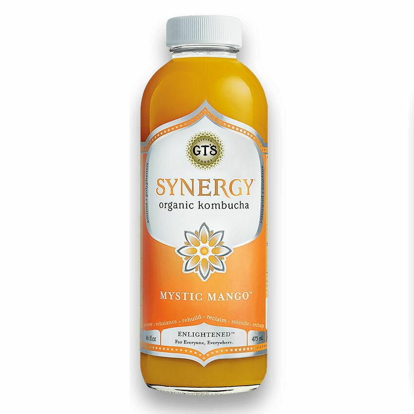 GT's Synergy Kombucha 16oz Mystic Mango
