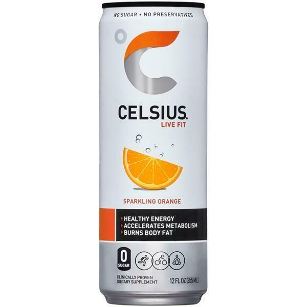 Celsius Sprkling Orange 12oz