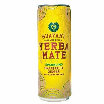 Guayaki Yerba Sparkling Grapefruit Ginger 12oz