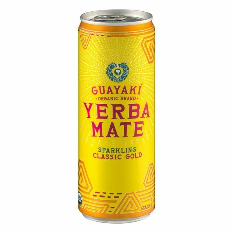 Guayaki Yerba Mate Classic Gold Sparkling 12oz