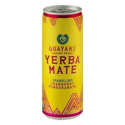 Guayaki Yerba Mate Sparkling Cran-Pomegranate 12oz